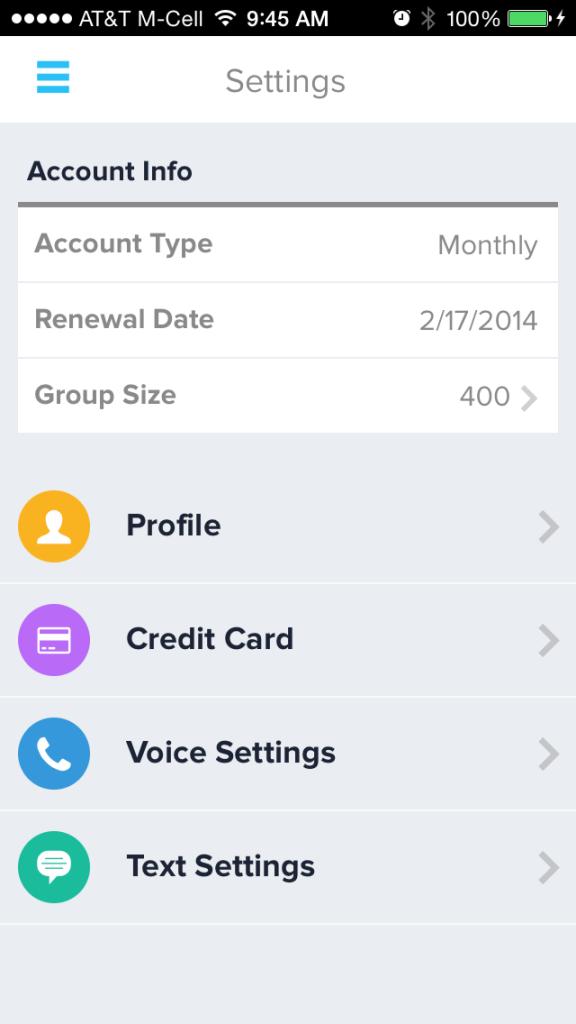 Call-Em-All Account Settings